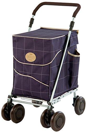 Original Sholley Deluxe 'Mulberry' Faltbare Einkaufstrolley, Einkaufswagen mit Rädern, Einkaufsroller klappbar. Handwagen, Einkaufstache aüf Rädern, 4 Räder, 6 Räder
