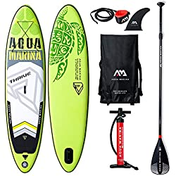 "AQUA-MARINA Stand up Paddle Gonflable Sup AQUAMARINA Thrive 2019 Pack Complet 315x79x15cm Unisex Adult, Vert Noir Blanc, 3157915 10'4""x31''x6''"