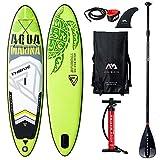 AQUA-MARINA Stand up Paddle Gonflable Sup AQUAMARINA Thrive 2019 Pack Complet 315x79x15cm Unisex Adult, Vert Noir Blanc, 3157915 10'4'x31''x6''