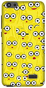 The Racoon Grip Yellow Monsters hard plastic printed back case/cover for Huawei Honor 4C