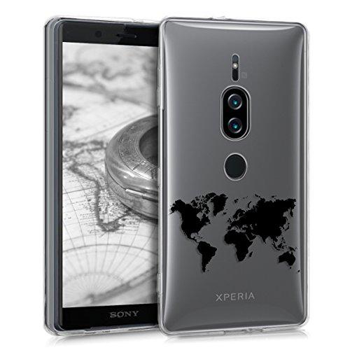kwmobile Sony Xperia XZ2 Premium Hülle - Handyhülle für Sony Xperia XZ2 Premium - Handy Case in Schwarz Transparent