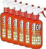 Stop 6 Insetticida Spray Multi Insetti 375ml Acari Formiche Pulci Cimici Tarme Mosche 6in1 da 375ml (Totale 2250ml)