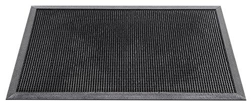 axentia 126048 Fußmatte, Kunststoff, schwarz, 40 x 60 x 1,5 cm