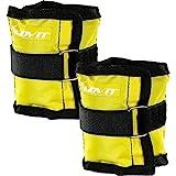 MOVIT 2er Set Gewichtsmanschetten für Hand- und Fußgelenke, 7 Gewichtsvarianten, 2X 0,5kg - 2X 4 kg