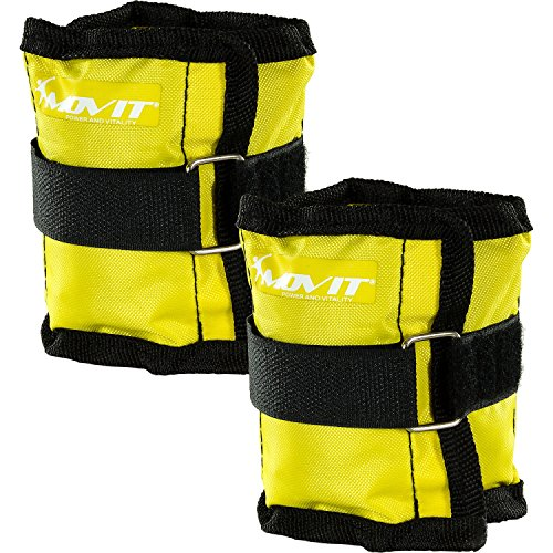 MOVIT 2er Set Gewichtsmanschetten für Hand- und Fußgelenke 2X 0,5kg Laufgewichte gelb (Hand-gewichte-set)