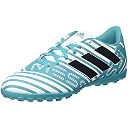 adidas Nemeziz Messi 74 TF, Scarpe da Calcio Uomo, Blu (Footwear White/Legend Ink/Energy Blue), 42 2/3 EU