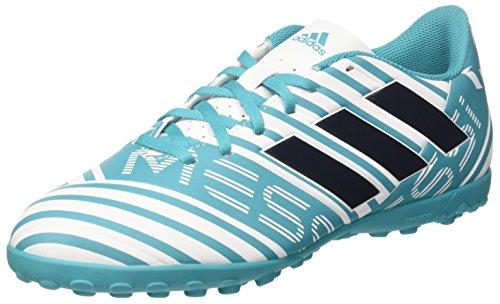 adidas Nemeziz Messi 74 TF, Scarpe da Calcio Uomo, Blu (Footwear White/Legend Ink/Energy Blue), 42 2/3 EU