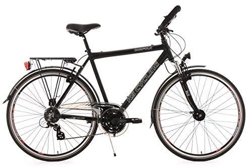 KS Cycling Herren Fahrrad Trekkingrad Norfolk RH 56 cm Multipositionslenker, Schwarz, 28, 142T