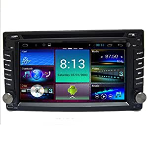 Generic Android 4.4.4 6.2 inch Double din Car PC DVD Player for universal GPS Wifi Bluetooth Radio 1GB CPU DDR3 Capacitive Touch Screen 3G car stereo audio 1.2 GB RDS IPOD Phonebook AUX 8GB Dual core