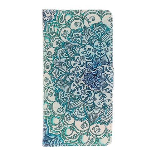 iPhone 7 Custodia in Pelle,iPhone 7 Cover Portafoglio,Etsue Colorate Dipinto Modello Style Flip Wallet Cover Case Con Magnetica Chiusura/Card Slot/Supporto Funzione,Libro Leather Pu Protettiva Case Co &4