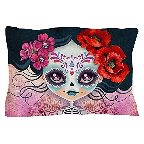 tianjianzulinyouxiangongsi Amelia Calavera Sugar Skull - Standard Size Pillow Case, 20