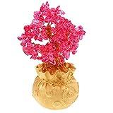 perfk Glücksbaum 22cm Geld Bäume Bonsai Stil Dekoration für Erfolg und Alle Guten Dinge anzuziehen - Rot