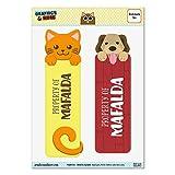 Lot de 2plastifié brillant pour chien et chat signets–noms femelle Mab-maj Mafalda