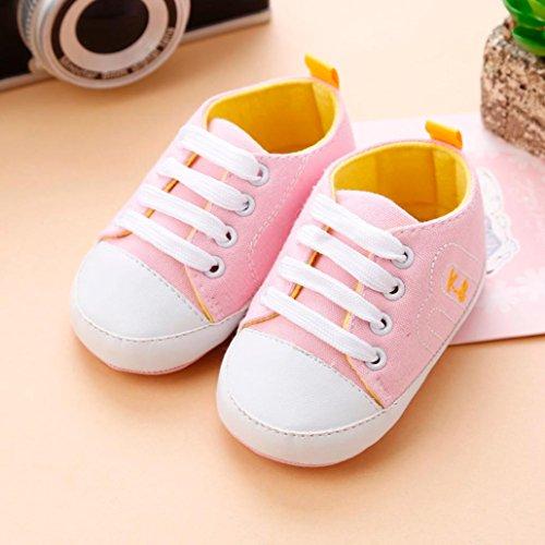 BZLine® Baby Girls Krippe Schuhe Soft Sohle Anti-Slip Sneakers Bandage Schuhe Pink