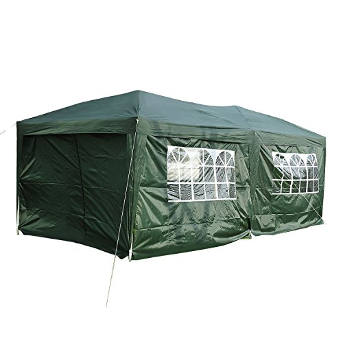 Outsunny 3 x 6 m Garden Heavy Duty Water Resistant Pop Up Gazebo Marquee Party Tent Wedding Awning Canopy With Strong Carrying Bag
