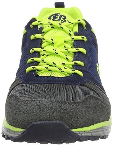 Bruetting Advantage, Low-Top Sneaker Uomo Blu (Blau (marine/anthrazit/lemon))