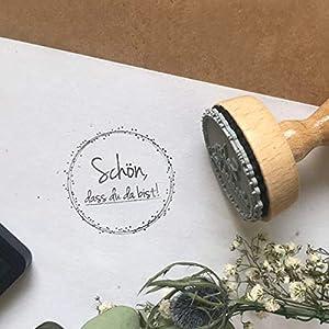 Stempel Hochzeit - Schön, dass du da bist - Serie: Dots - Gastgeschenke, Namenskarten Tischkarten