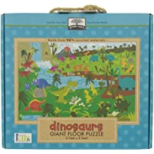 Green Start Giant Floor Puzzles: Dinosaurs (Earth Friendly 35 PC Puzzles with Handy Carry & Storage Case)