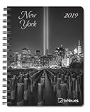 New York 2019 - Buchkalender, Städtekalender, Lifestylekalender, Pocket Diary  -  16,5 x 21,6 cm
