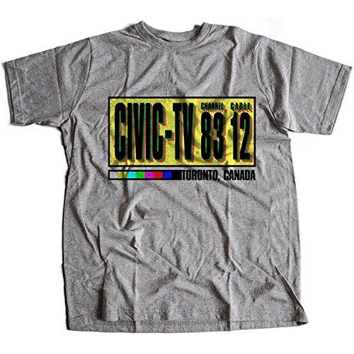 Flamentina 9181g Civic TV Herren T-Shirt Station Videodrome Video TV Scanners The Dead Fly Zone Horror(Large,Sportsgrey)