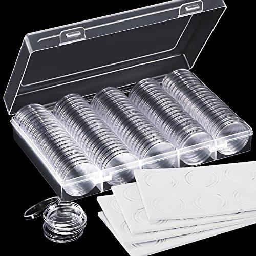 Hicarer 100 Piezas Cápsulas Monedas 30 mm Arandela