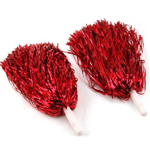 lyncol-2-x-cheerleader-pom-pom-waver-fancy-dress-pompoms-hen-night-party-accessory-red