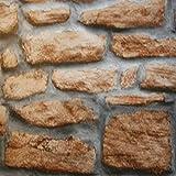 Fablon - Pellicola Adesiva, Effetto Muro di Pietre, 45cm x 15m