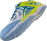 Gilbert Lumineux Netball Chaussures Blanches/Bleu Ciel/Volt - Blanc/Bleu Ciel/Volt, 7
