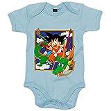 Body bebé Dragon Ball Goku con Shenlong Manga - Celeste, 6-12 meses