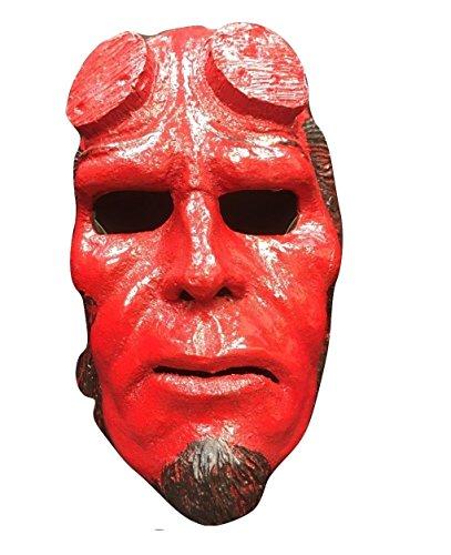UK Halloween Karneval Cosplay Rot Glasfaser Cosplay Das Gesicht Bedeckend Maske - Hölle Junge (Hellboy Maske)