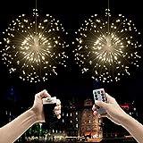 LED Lichterketten Feuerwerk Licht,Beautyshow Hängend Feuerwerk Licht Dekorations 120 LED 8 Modi IP44 Wasserdichte Kupferdraht Hängeleuchte Lichter für Indoor Outdoor...
