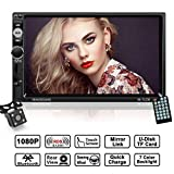 Autoradio 2 Din Touch Screen HD 7 Pollici, con Telecamera per la Retromarcia, Supporta Mirrorlink /...