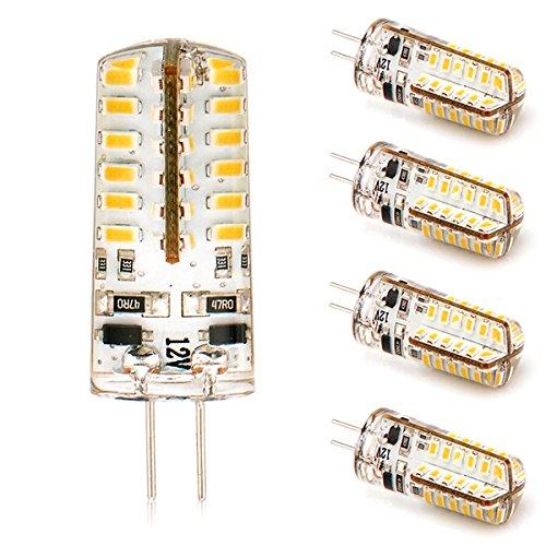 5x Offgridtec® G4 2,5W LED Silica GEL 48SMD3010 V3 LED 205lm 12V Warmweiß - Stiftsockel Leuchte Ersatz Strahler für 3W 20W (12 V Wohnmobil-leuchten)