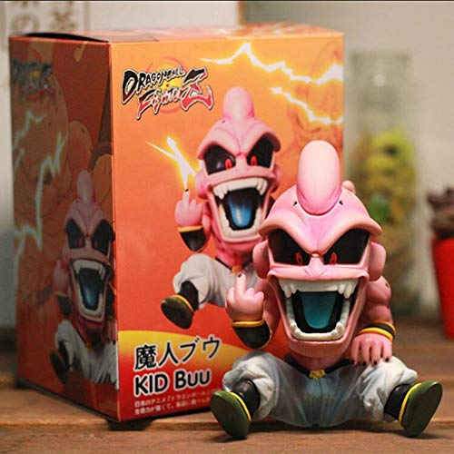 XINKONG Estatua de Juguete Dragon Ball Estatua de Juguete Colección de Personajes de Dibujos Animados Recuerdo Saiyan Modelo de Juguete Magic Man Buu 12CM
