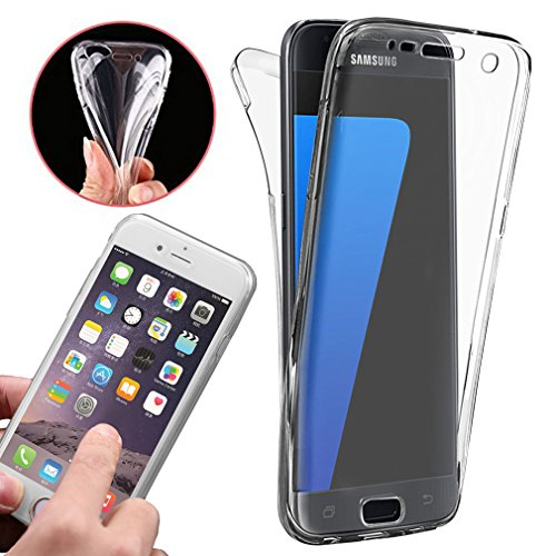 Front & Back Fully Protection Clear Gel Skin Case Cover Samsung Galaxy J3  2016