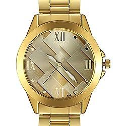 Bodhi2000® Men's Business Stainless Steel Watch Band Strap Quartz Wrist Watch Gold