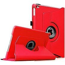 Fintie iPad Air 2 Funda - Giratoria 360 grados Smart Case Funda Carcasa con Función y Auto-Sueño / Estela para Apple iPad Air 2 (iPad 6th Generación 2014 Versión) 9.7 Inch iOS Tableta, Rojo