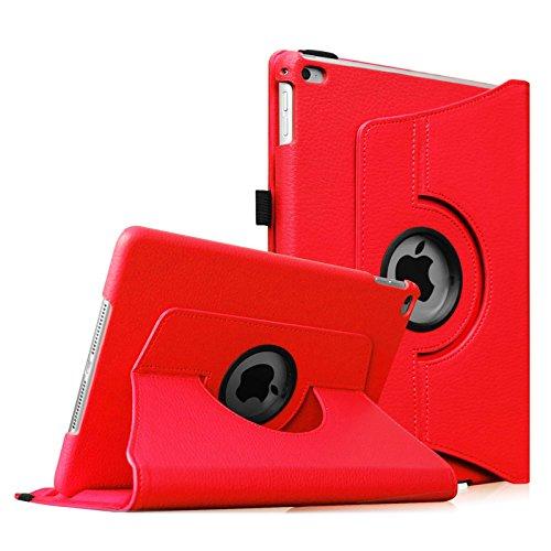 Fintie iPad Air 2 Custodia in pelle - Slim girevole Smart 360 gradi di rotazione Case Cover Custodia Protettiva con Funzione sonno auto / sveglia la funzione per Apple iPad Air 2 iPad 6 2014 Modello, Rosso