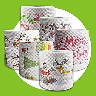 terynbat Rollo Papel Higiénico Navidad Patrón Serie Impresiones Gracioso