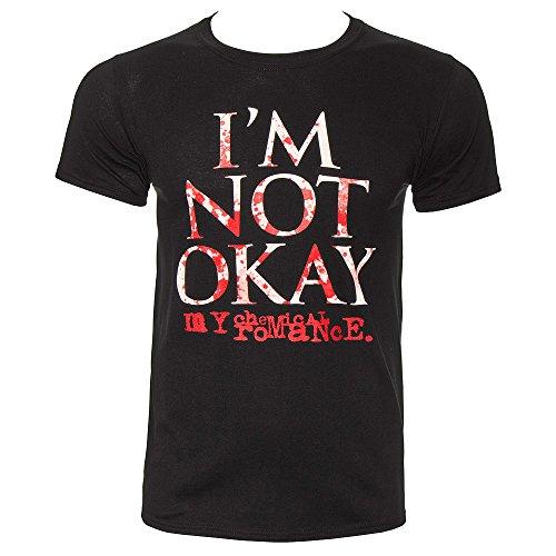 My Chemical Romance Im Not Okay Splatter T Shirt (Nero) - Medium