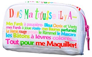 Fox trot 9371BLAN Mini Trousse à Maquillage Nylon Inventaire