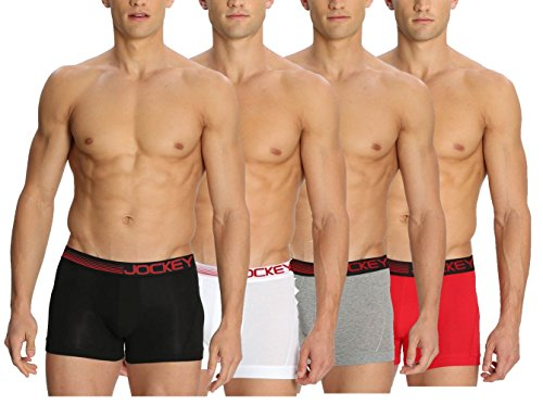 Jockey Zone Stretch Boxer Trunks - Assorted Pack Of 4 (colors May Vary)