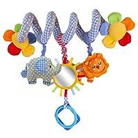 Leorx Spirale Spielzeug, Kinderwagen, Spielzeug, Bett hängen, Spielzeug, Baby-Autositz-Spielzeug mit Spiegel und Bell