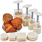 Xshelley Lot de 4 presses manuelles à gâteau de Lune et cookies de Noël avec 12matrices