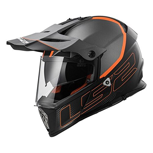 LS2 Helm Motorrad MX436 Pioneer Element, matt black Titanium, XXS