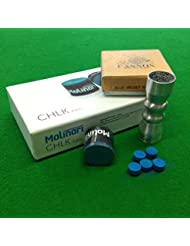 Billard, craie Billard Molinari en velours bleu & Cuetec bowtie Outil Kit d'accessoires
