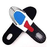 Plantilla para zapatos deportivos,EVA transpirable absorción de golpes, longitud completa, almohadilla para pies ortopédicos ajustable para fascitis plantar,correr, espolones de talón dolor de pies