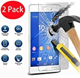 2 Pack - Sony Xperia Z3 Compact Verre Trempé, FoneExpert Vitre Protection Film de protecteur d'écran Glass Film Tempered Glass Screen Protector Pour Sony Xperia Z3 Compact