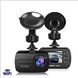 KuLio WLAN-Dashcam für Amarturenbrett im Auto, Full HD, 1080p, Autokamera mit 1,5-Zoll-LCD-Display, Loop-Aufnahme, Bewegungserkennung, Beschleunigungssensor