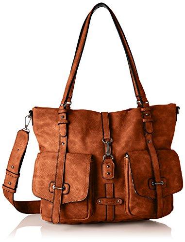 Tamaris Damen Bernadette Shopping Bag Henkeltasche, Braun (Cognac), 12x30x36 cm